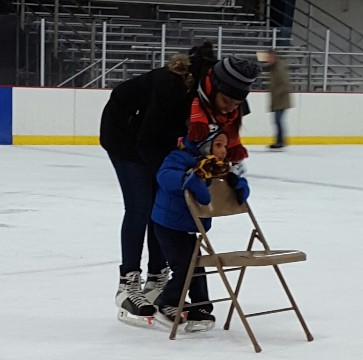 Learning to skate at Edwards Ice Arena